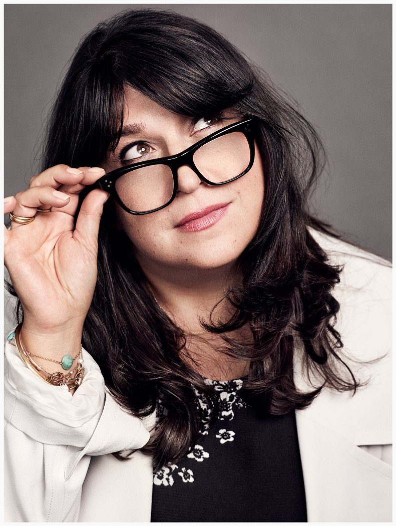 E L James, photo by Nino Muñoz